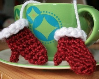 Mini Pair of Crochet Mittens Ornament