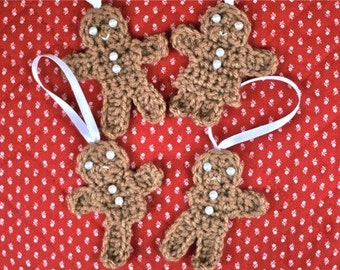 Crochet PATTERNS -- Gingerbread men and women, some more broken than others