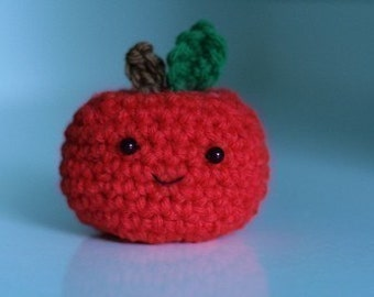 Cute Little Apple --not the thinnest laptop ever -- crochet