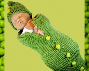 Pea Pod Baby Cocoon and Hat + Bobble Tutorial - Fast Easy DIY
