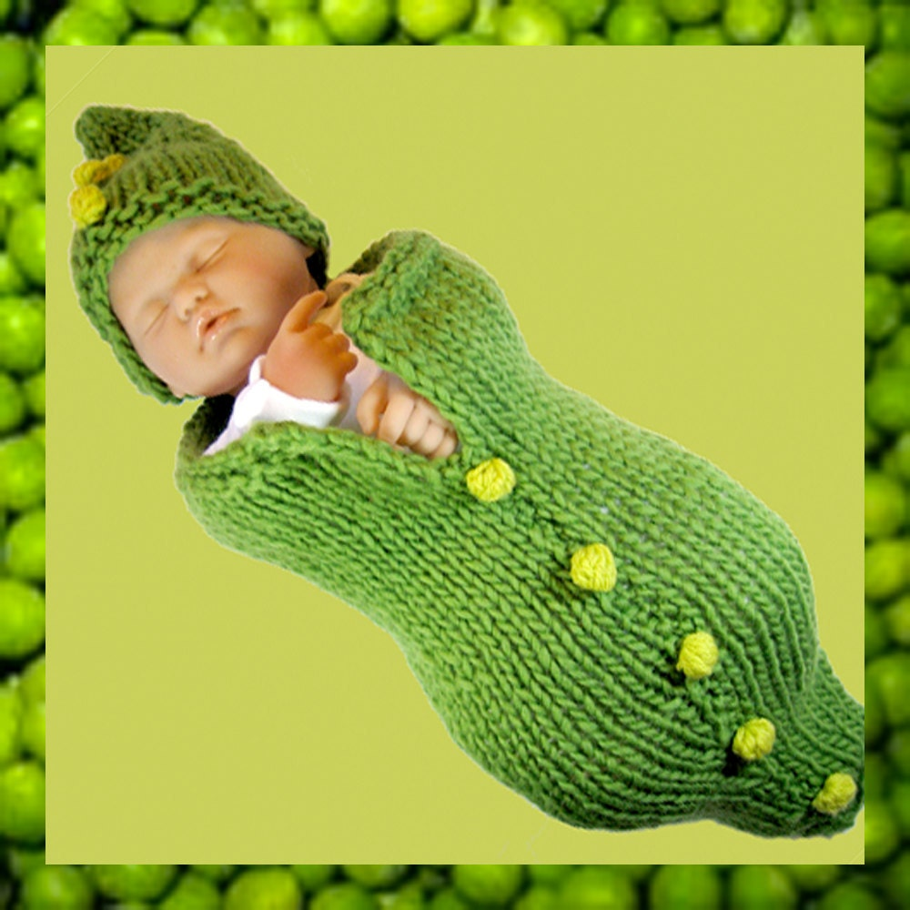 Pea Pod Baby Cocoon And Hat Bobble Tutorial Fast Easy Diy