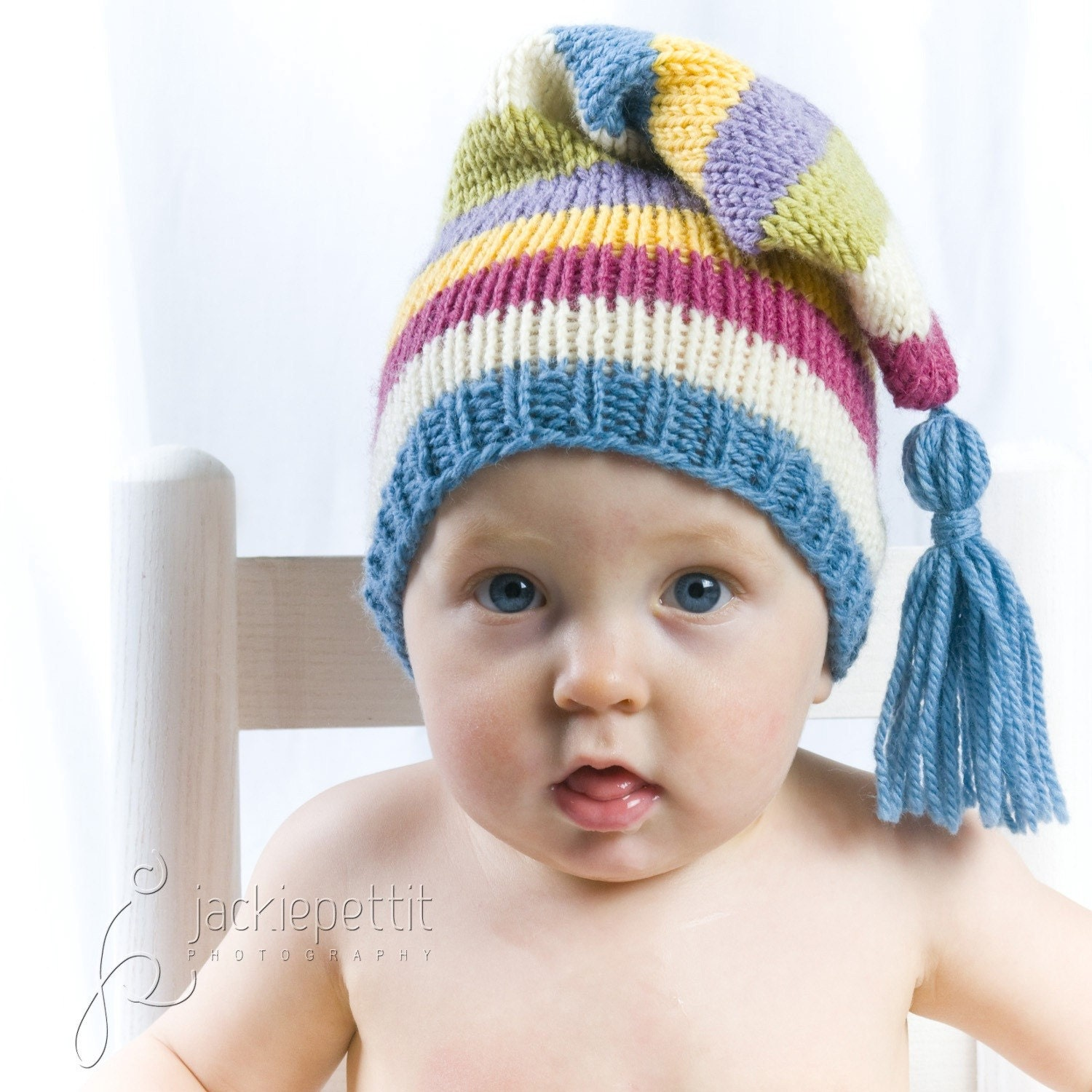 Knitting Pattern Newborn Elf Hat : Luxury Wool Baby Hat for Boys or Girls