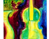 ORIGINAL painting....violin with quote on 16x20 gallery wrapped canvas....FREE shipping anywhere in the US
