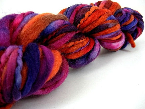Wooly Bear (Gypsy Love) - Handpainted Wool Superfat Thick and Thin Yarn