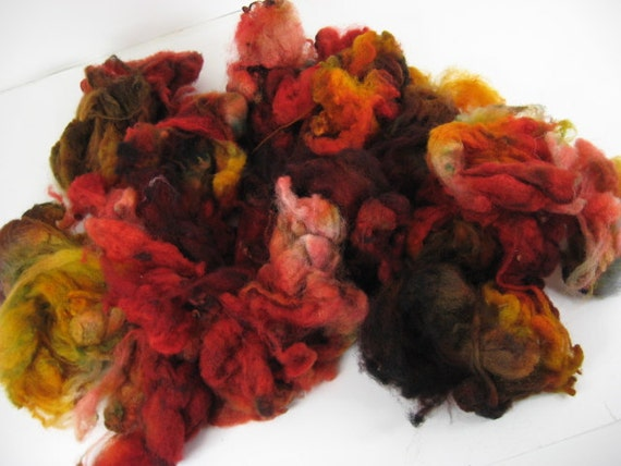Corriedale Fleece A21-04 3.9 oz - Great for carding batts, felting, spinning from the locks