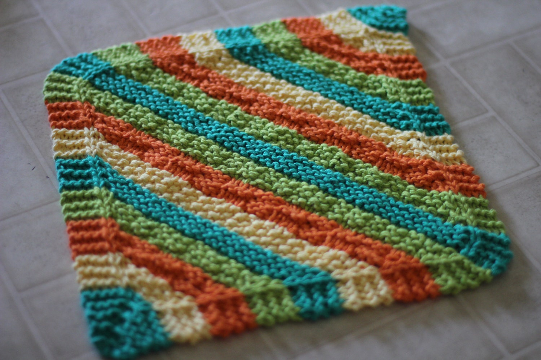 Hot Stripes Hanging Dish Towel and Diagonal Stripes ...