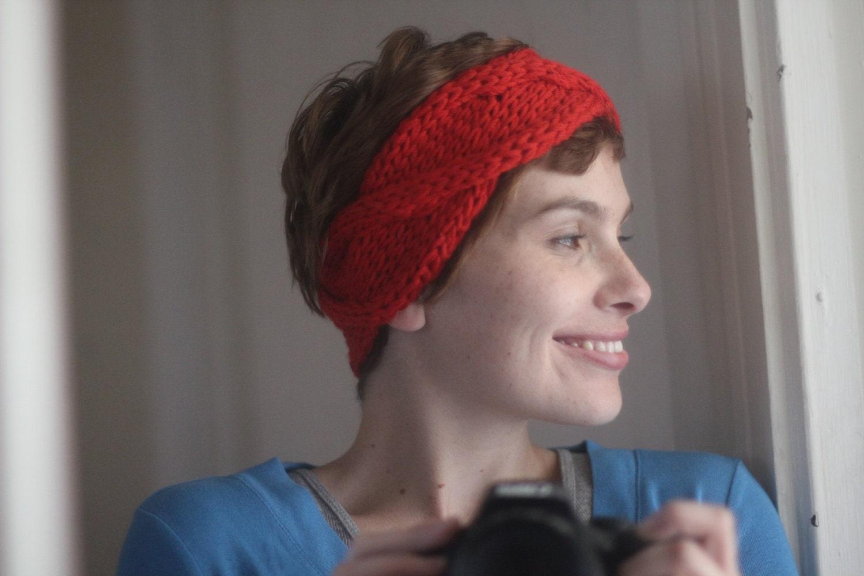 WORKSHELTER Chunky Cabled Headband Knitting by thesweatshopoflove