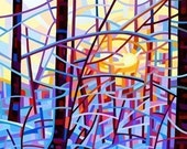 Fine Art Poster Print of an Original Abstract Acrylic Painting - Sunrise