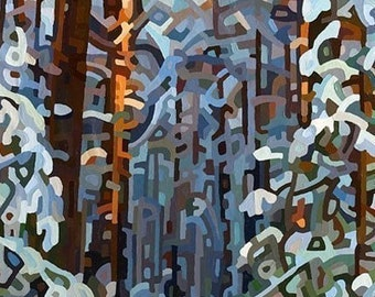 Abstract Fine Art Print - Forest Winter 13x19