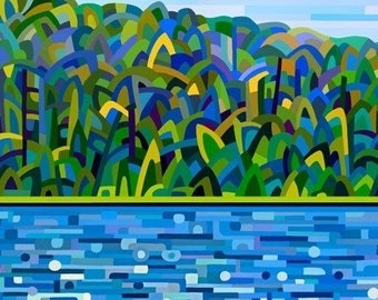 Abstract Fine Art Print - Lake of Bays