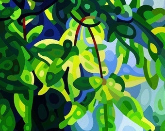 Fine Art Poster Print of an Original Abstract Acrylic Painting - Spring Light