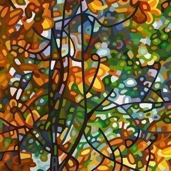 Abstract Fine Art Print 13x19 - Summer Tree