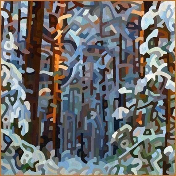 budanArt 8.5 x 11 Print - Forest Winter