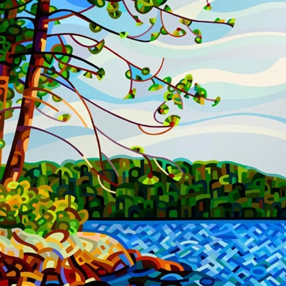 Abstract Fine Art Print 5x7 - View From Mazengah