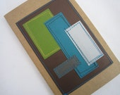 Geometric Journal . Moleskine Notebook . Stitched Hip to be Square . Graph Pages