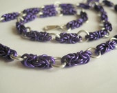 Bright Purple Byzantine Chainmail Necklace