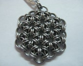 Stainless Steel 12-2 Chainmail Pendant