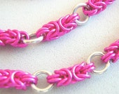 Screamin Pink Chainmail Necklace