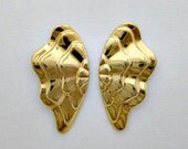 Vintage Golden Earrings - Pierced - Avon Enchanted Wings - US Shipping Included