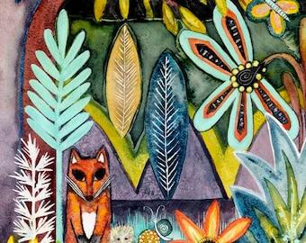 Fox and the Hedgehog - Large Print - 11X14