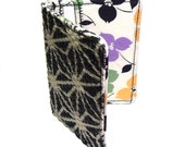Card Holder, Wallet in Black and Cream Starbursts