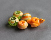 Elizabeth Creations MORNING BIRD artisan handmade lampwork beads SRA