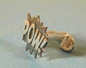 Sterling silver POW Cufflinks
