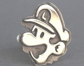 Cufflinks - Sterling Silver Mario and Luigi cufflinks
