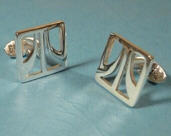Sterling Silver Atari Cufflinks