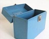 Vintage Blue Port-a-File
