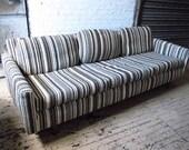 "Mid-century Low Profile 84"" Sofa"