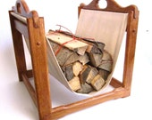 Scandinavian Modern Fireplace Log Holder