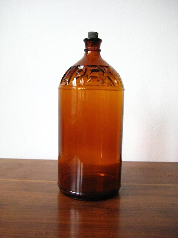 SALE Purex Brown Glass Bottle