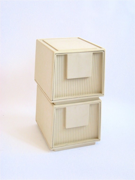 Plastic 1980s Tuf File By Staco File Cabinet