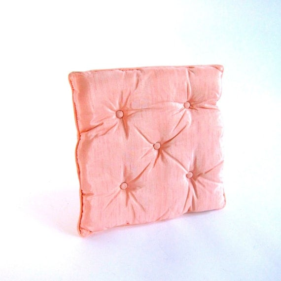 Hollywood Regency Pink Square Tufted Pillow