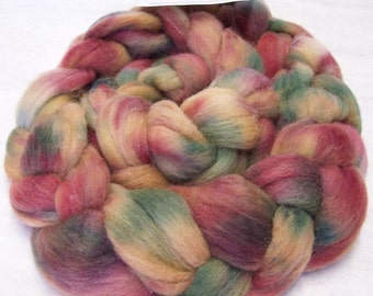 Handpainted Roving 4 oz  Soft Wool Colorway, Grapevines