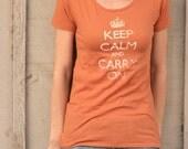 RESERVED-  Womens Keep Calm Organic Cotton tee - XL