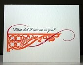 Letterpress Bittersweet Card - What did I ever see in you