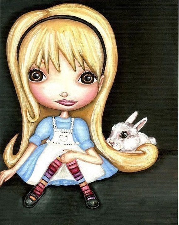 Sale - Finding Wonderland (An Alice In Wonderland Inspired Art Print)