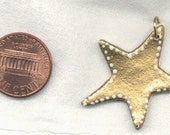 Gold and White Star Reversible Pendant