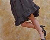 Solid Black Lolita Skirt