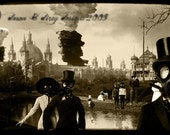 A Day in the Park - 5x7 Steampunk\/Apocalypse Collage - Reserved for harleh