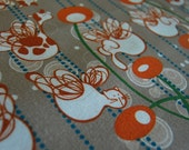 Printed Fabric with Flying Cat, Elephant and Giraffe - Original Fabric