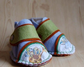 Baby Booties - SALE Felt Baby Shoes - As Seen on Martha Stewart