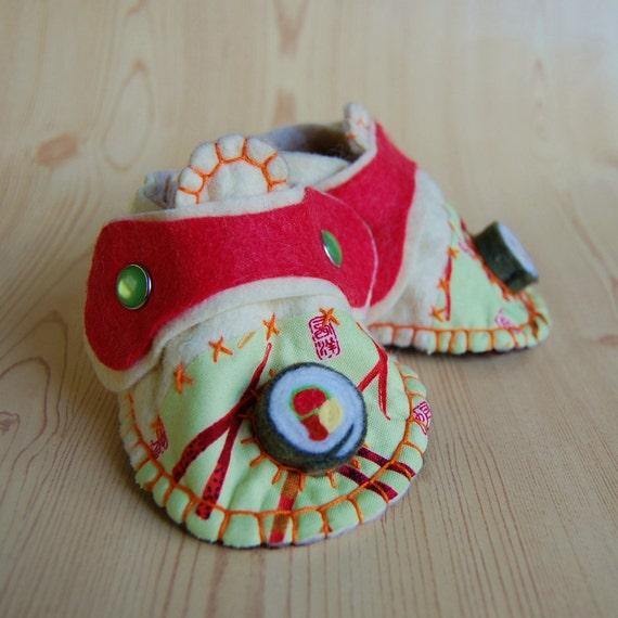 Baby Booties - SALE Felt Baby Shoes - As Seen on Martha Stewart