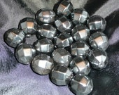 12 mm Faceted Hematite