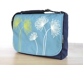 Satchel Bag Canvas Screen Print - JUST DANDY on Teal