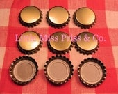 LMP 25 New Unfinished GOLD Bottle Caps (Bottlecaps) - Perfect Supply for Scrapbooking- Jewelry- Hairbows and more