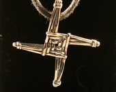 Bronze St Brigid's Cross Pendant- cast