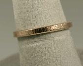 Textured 10k Gold Trinket Ring- Stackable